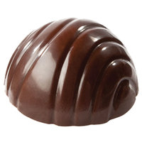 Matfer Bourgeat 383601 Polycarbonate 6 Compartment Half Sphere Eight Groove Chocolate Mold