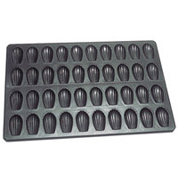 Matfer Bourgeat 310739 23 1/2 inch x 15 3/4 inch Exopan 40 Compartment Non-Stick Steel Madeleine Sheet