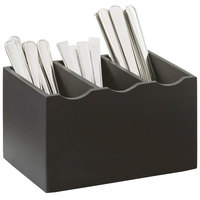 Cal-Mil 1244-96 Midnight Bamboo 3-Compartment Flatware Organizer