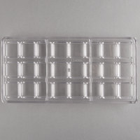 Matfer Bourgeat 383205 24 Compartment Square Shells Chocolate Mold