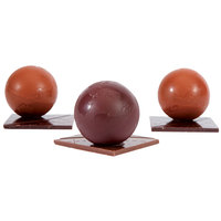 Matfer Bourgeat 380125 Polycarbonate 3 Compartment Half Sphere Chocolate Mold