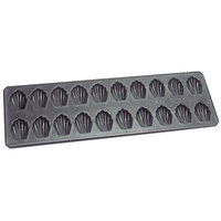 Matfer Bourgeat 310732 15 1/2 inch x 5 inch Exopan 20 Compartment Non-Stick Steel Madeleine Sheet