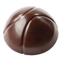 Matfer Bourgeat 383600 Polycarbonate 21 Compartment Half Sphere Two Groove Chocolate Mold