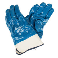 Brawler Smooth Supported Nitrile Gloves with Jersey Lining and Sanitized Treatment - Large - Pair - 12/Pack