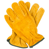 Russet Select Split Cowhide Leather Driver's Gloves - Medium - Pair