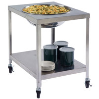Lakeside PB712 PrisonBilt Heavy-Duty Stainless Steel Mobile Mixing Bowl Stand for 30 Qt. Bowl