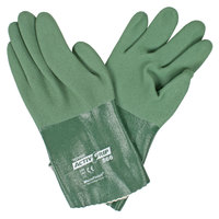 ActivGrip Green MicroFinish 12 inch Nitrile Gloves with Polyester / Cotton Lining - Extra Large - Pair
