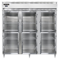 Continental DL3R-SS-GD-HD 78 inch Half Glass Door Reach-In Refrigerator