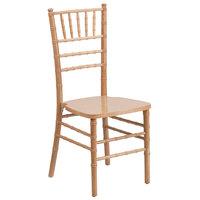 Flash Furniture XS-NATURAL-GG Hercules Natural Wood Chiavari Hardwood Stacking Chair
