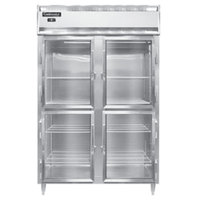 Continental DL2RS-GD-HD 52 inch Half Glass Door Shallow Depth Reach-In Refrigerator