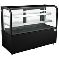 Avantco BC-60-HC 60 inch Curved Glass Black Refrigerated Bakery Display Case