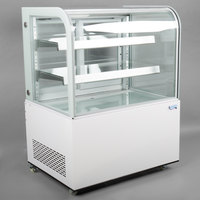 Avantco BCD-36 36 inch Curved Glass White Dry Bakery Display Case