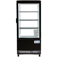 Avantco GSM-3-HC Black Glass Sided Countertop Display Refrigerator