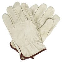 Economy Grain Pigskin Driver's Gloves with Straight Thumbs - Extra Large - Pair