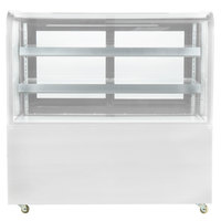 Avantco BC-60-HC 60 inch Curved Glass White Refrigerated Bakery Display Case