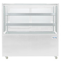 Avantco BCD-48 48 inch Curved Glass White Dry Bakery Display Case
