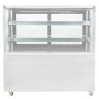 Avantco BCD-60 60 inch Curved Glass White Dry Bakery Display Case