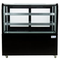 Avantco BC-48-HC 48 inch Curved Glass Black Refrigerated Bakery Display Case