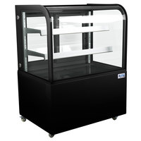 Avantco BC-36-HC 36 inch Curved Glass Black Refrigerated Bakery Display Case
