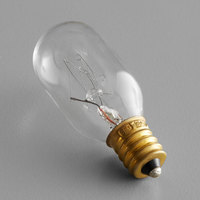 Avantco 17816351 15 Watt Clear Incandescent Indicator Light Bulb (T7)