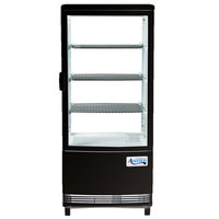 Avantco GSM-3-2-HC Black Glass Sided Pass-Through Countertop Display Refrigerator