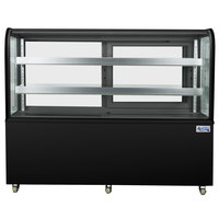Avantco BCD-60 60 inch Curved Glass Black Dry Bakery Display Case