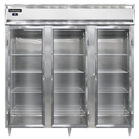 Continental DL3R-SA-GD 78 inch Glass Door Reach-In Refrigerator