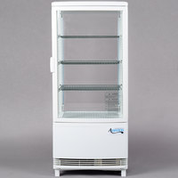 Avantco GSM-3-HC White Glass Sided Countertop Display Refrigerator