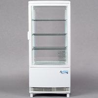Avantco GSM-3-HC White Glass Sided Countertop Display Refrigerator
