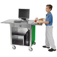 Lakeside 641-G Stainless Steel Cash Register Stand with Green Finish
