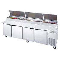 Beverage-Air DP119 119 inch Four Door Pizza Prep Table