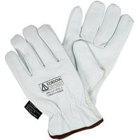 Premium Grain Goatskin Driver's Gloves with Kevlar® / Glass Fiber Lining - Medium - Pair