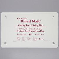 San Jamar CBM1016 Saf-T-Grip Board-Mate 16 inch x 10 inch White Cutting Board Mat