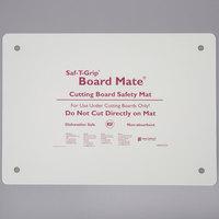 San Jamar CBM1318 Saf-T-Grip Board-Mate 18 inch x 13 inch White Cutting Board Mat
