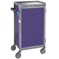 Lakeside 654-P Stainless Steel Six Tray Meal Delivery Cart With Purple Finish