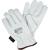 Premium Grain Goatskin Driver's Gloves with Kevlar® / Glass Fiber Lining - Large - Pair
