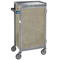 Lakeside 654-09 Stainless Steel Six Tray Meal Delivery Cart With Beige Suede Finish