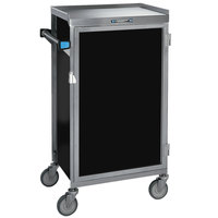 Lakeside 654-05 Stainless Steel Six Tray Meal Delivery Cart With Black Finish