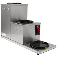Curtis AW-3SR-10 Step Up Three Burner Decanter Warmer with Receptacle - 120V