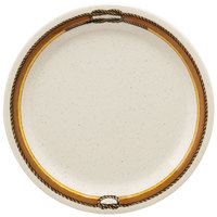 GET NP-6-RD 6 1/2 inch Diamond Rodeo Narrow Rim Plate - 48/Case