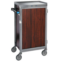 Lakeside 654-04 Stainless Steel Six Tray Meal Delivery Cart With Red Maple Finish