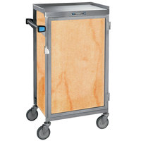 Lakeside 654-03 Stainless Steel Six Tray Meal Delivery Cart With Hard Rock Maple Finish