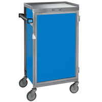 Lakeside 654-RB Stainless Steel Six Tray Meal Delivery Cart With Royal Blue Finish