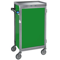 Lakeside 654-G Stainless Steel Six Tray Meal Delivery Cart With Green Finish