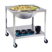 Lakeside PB713 PrisonBilt Heavy-Duty Stainless Steel Mobile Mixing Bowl Stand for 80 Qt. Bowl