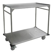 Lakeside PB37 PrisonBilt Two Shelf Open Tray Delivery Cart - 39 inch x 30 inch x 41 inch