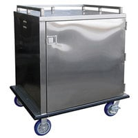 Lakeside PBTDCE1 PrisonBilt Stainless Steel 48 Tray Single Door Meal Delivery Cart