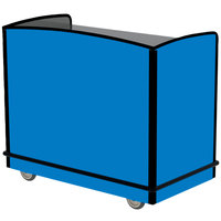 Lakeside 8702BL Stainless Steel One Shelf Full-Service Hydration Cart with Flat Top and Royal Blue Laminate Finish - 43 3/4 inch x 25 3/4 inch x 38 1/4 inch
