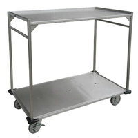 Lakeside PB51 PrisonBilt Two Shelf Open Tray Delivery Cart - 53 inch x 30 inch x 41 inch