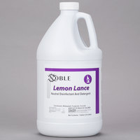 Noble Chemical 1 Gallon Lemon Lance Lemon Disinfectant & Detergent Cleaner - Ecolab® 14522 Alternative - 4/Case